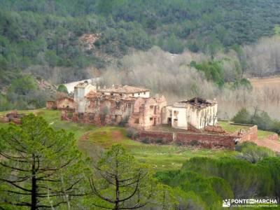 Valle Cabriel-Manchuela conquense;las barrancas de burujón pueblos negros yllera pueblos blancos de